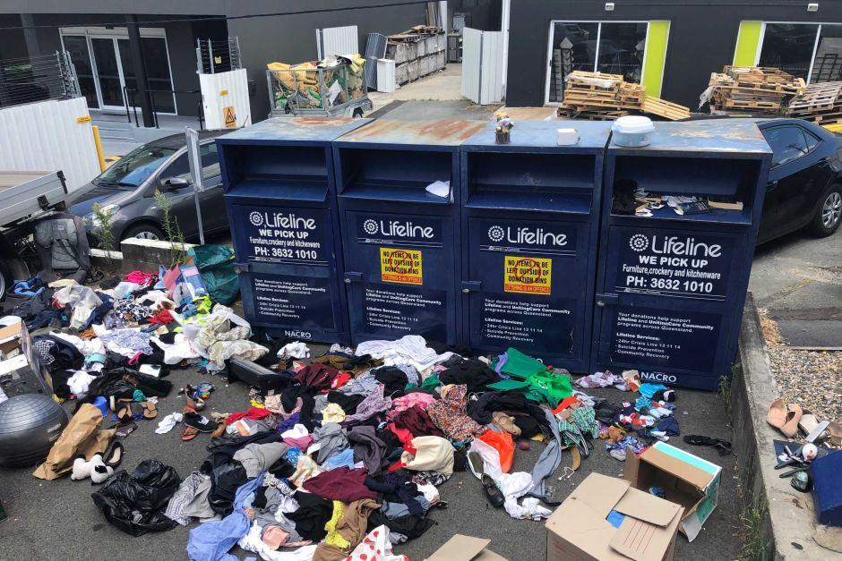 Charity bins full